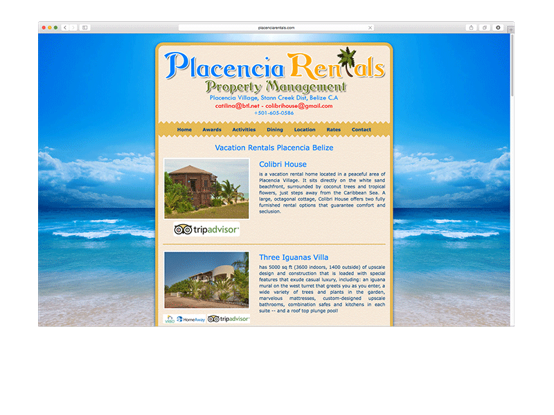 portfolio placencia rentals - placenciarentals.com